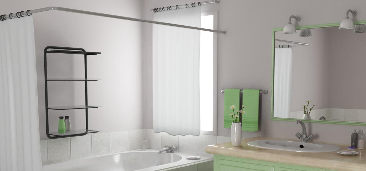 Rendering fotorealistico di un bagno